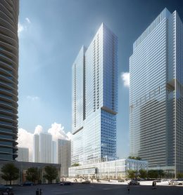 Parcel O at Lakeshore East. Rendering by bKL Architecture