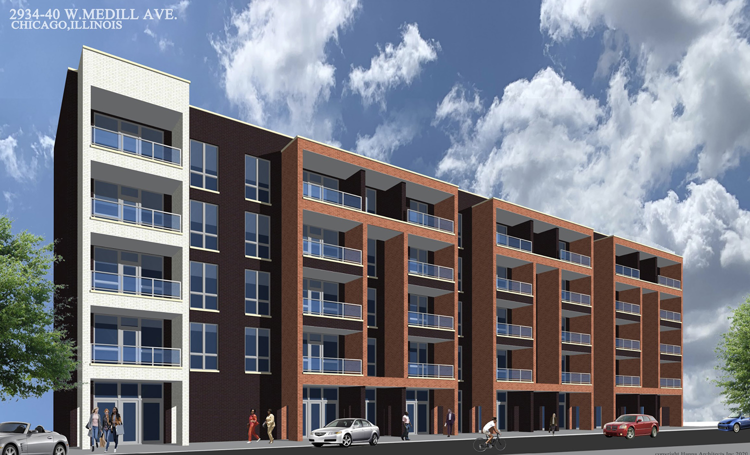 2934 W Medill Avenue. Rendering by Hanna Architects