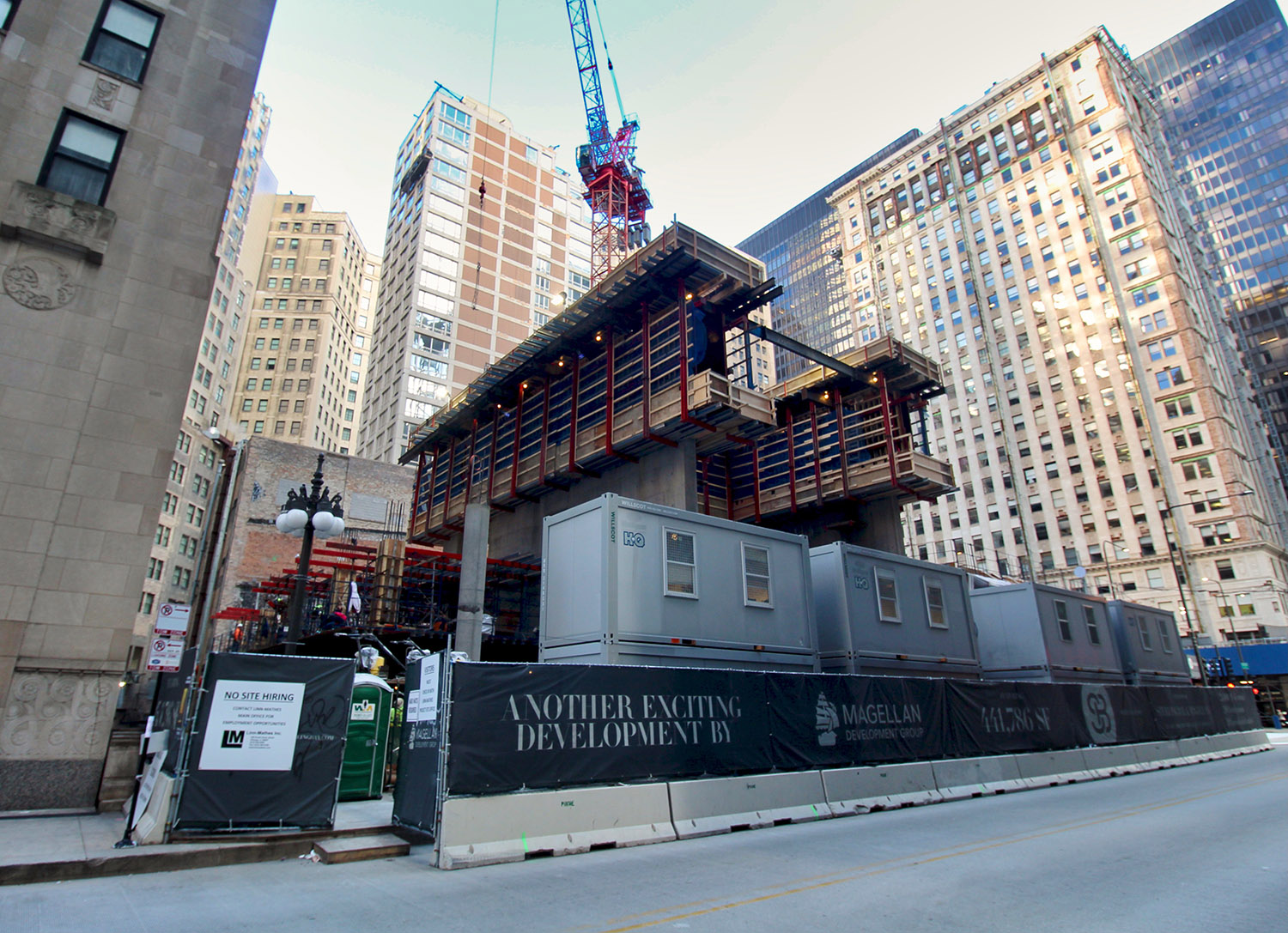 Construction Progress at 300 N Michigan Avenue. Image by Jack Crawford