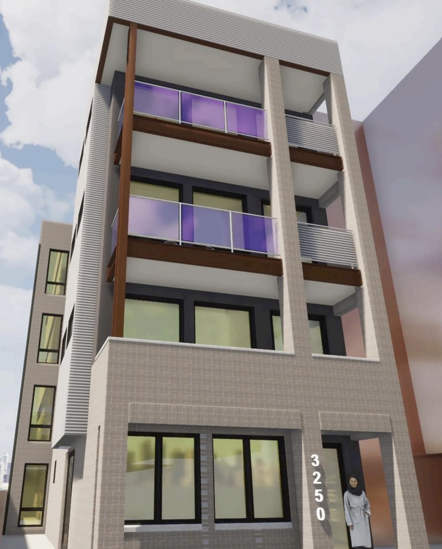 3250 N Clark Street. Rendering by Stoneberg + Gross Architects