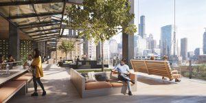 330 N Green Street's five-story open deck