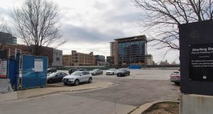 Post-demolition site of 330 N Green Street