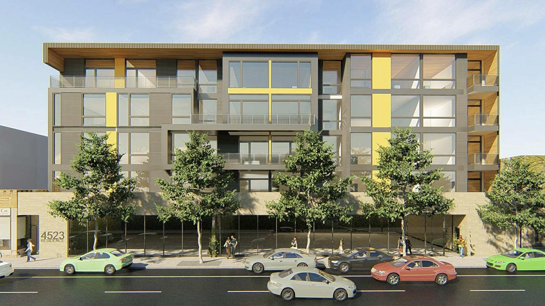 4511 N Clark Street. Rendering by 2R/Z Architecture