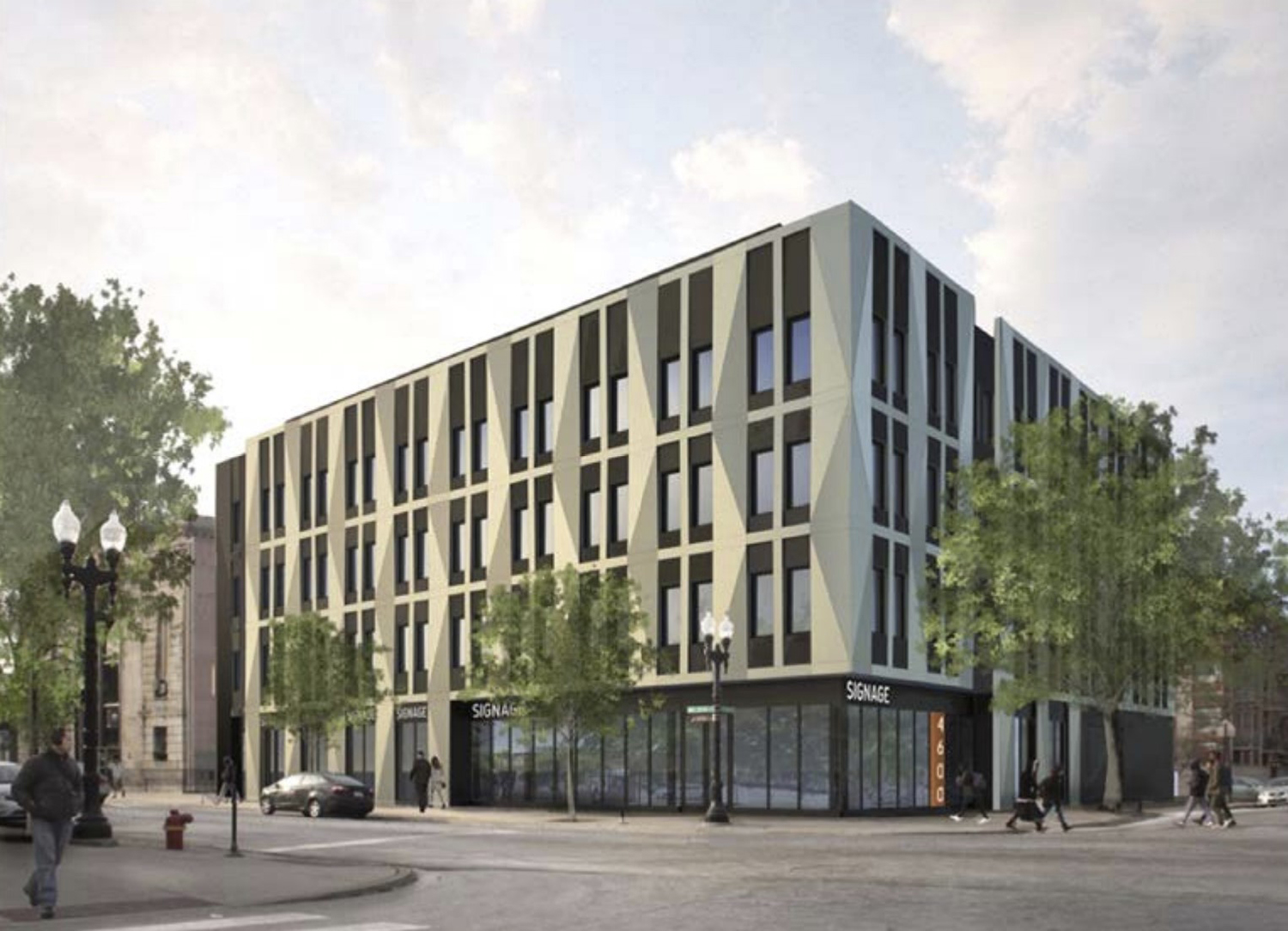 4600 N Kenmore Avenue. Rendering by Level Architecture