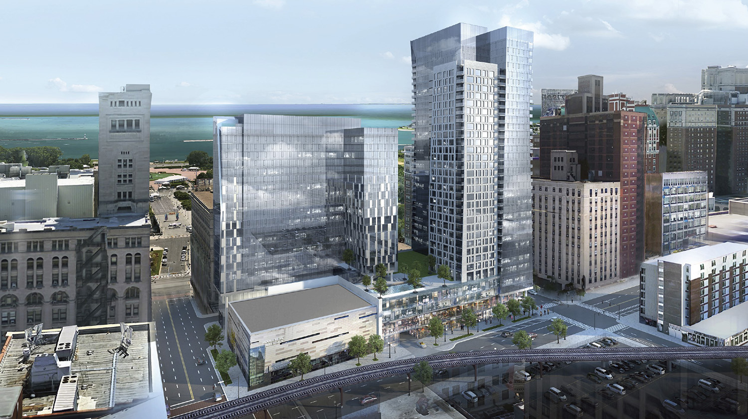 525 S Wabash Avenue. Rendering by BKV Group