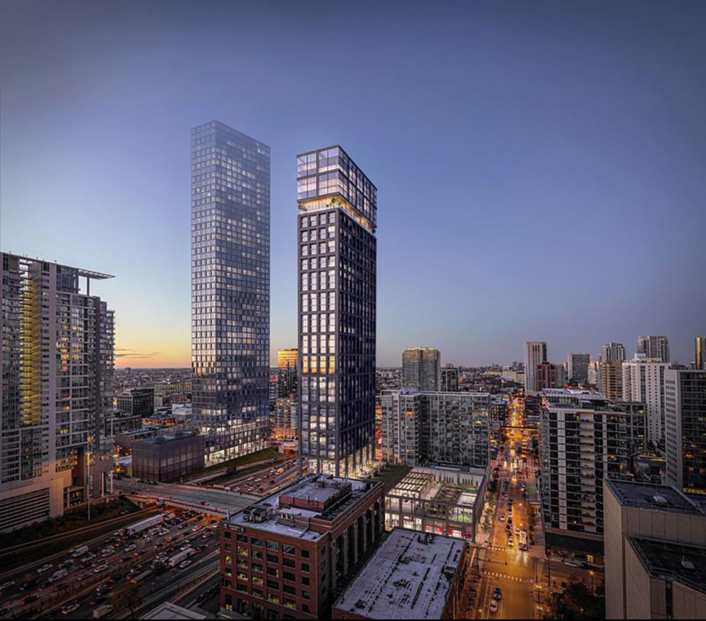 640 W Washington Boulevard. Rendering by Hartshorne Plunkard Architecture