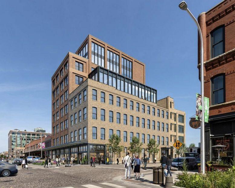 900 W Fulton Market. Rendering by Hartshorne Plunkard Architecture