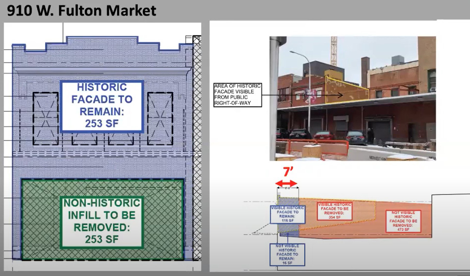 Historic Study of 910 W Fulton Market. Images by CCL