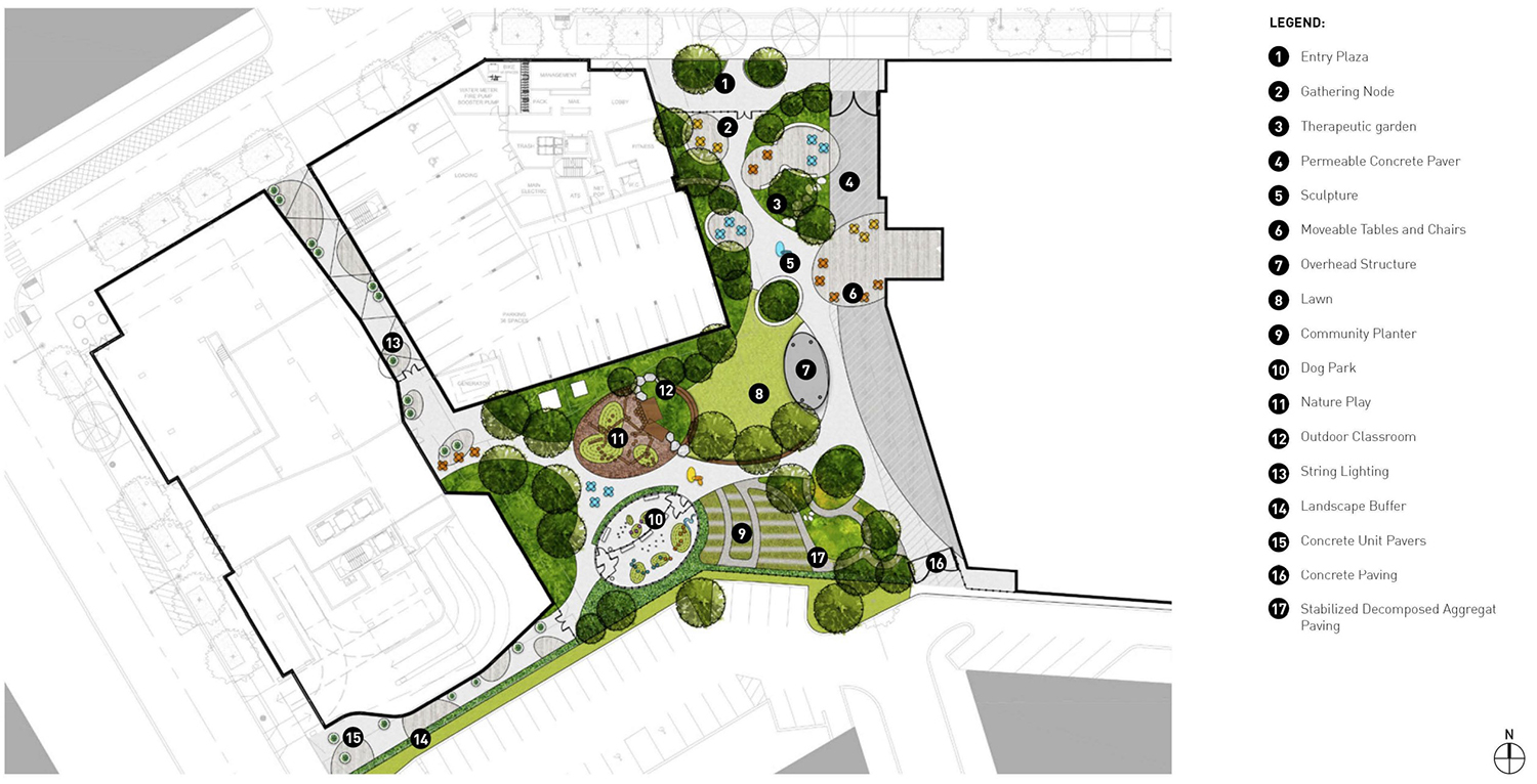 Park Plan at 1450 N Dayton Street. Rendering by GREC Architects