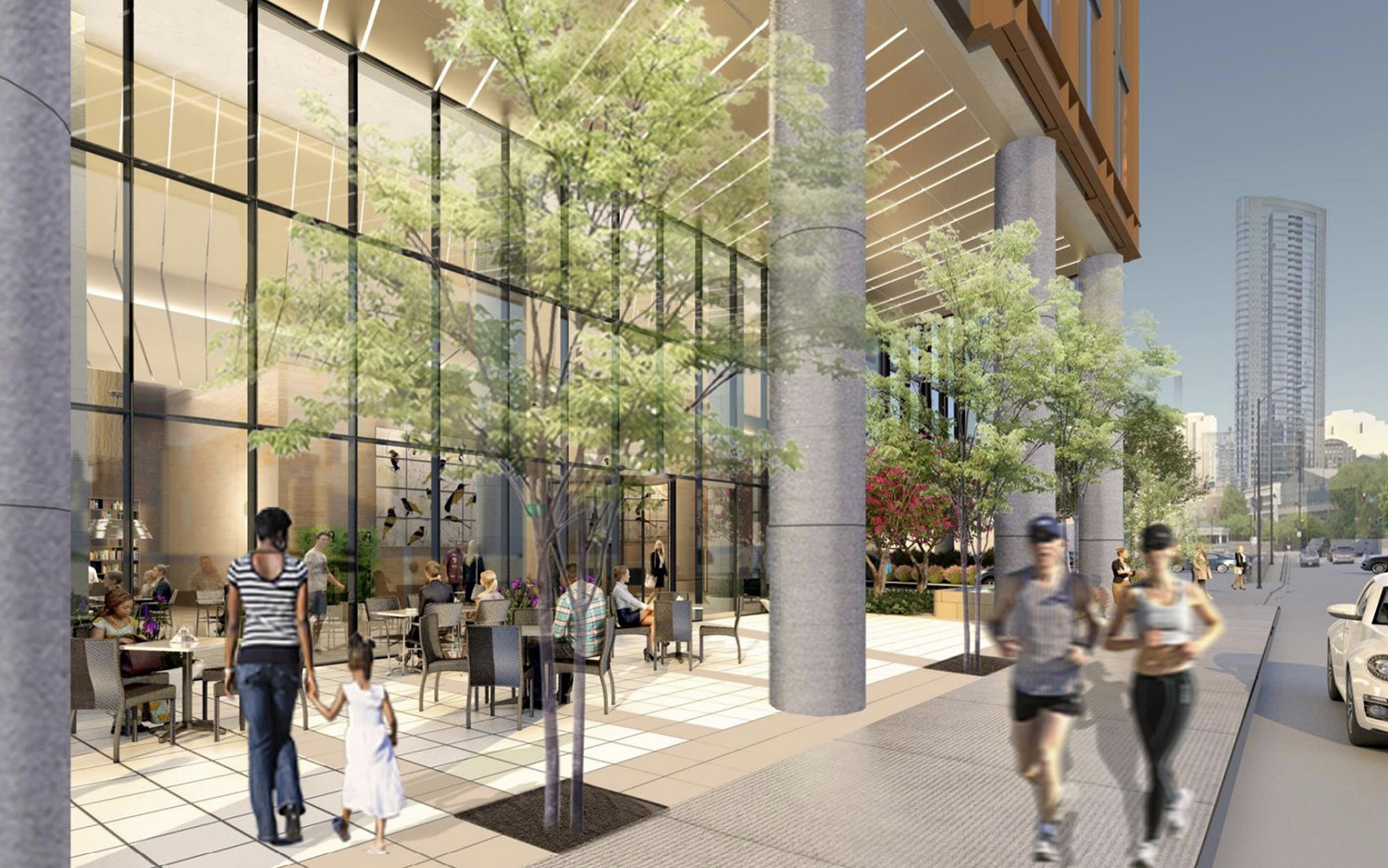 Public Plaza at 344 N Canal Street. Rendering by SCB