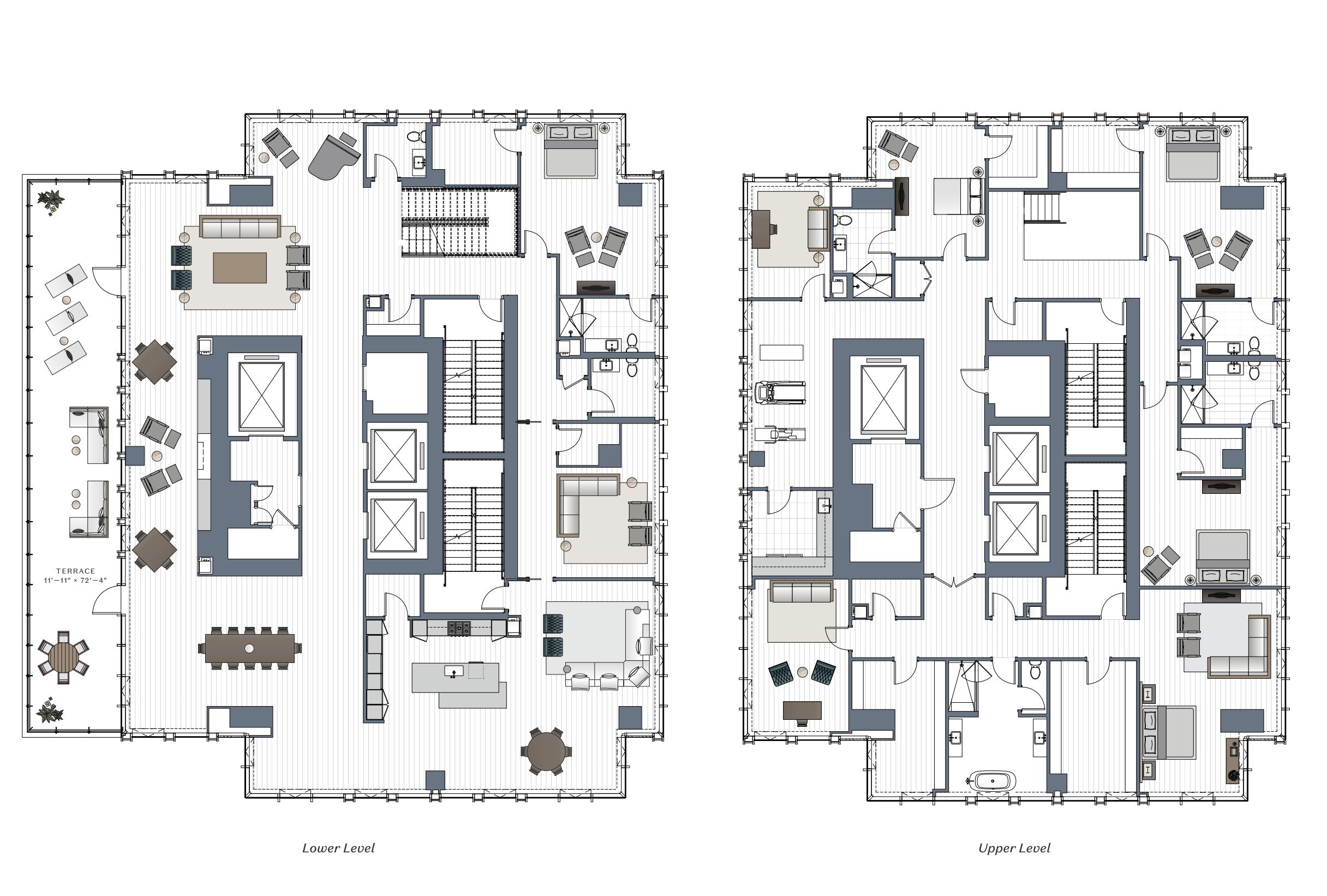 One Chicago Square five-bedroom duplex condominium