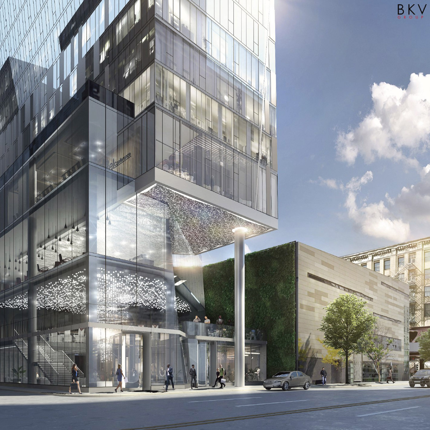 Street View of 525 S Wabash Avenue. Rendering by BKV Group