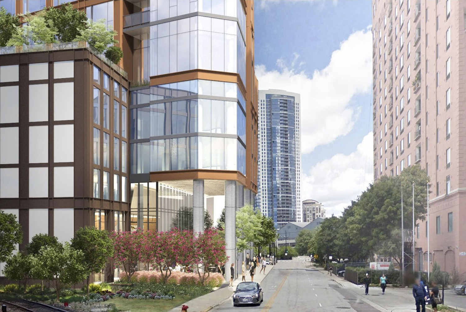 Streetscape at 344 N Canal Street. Rendering by SCB