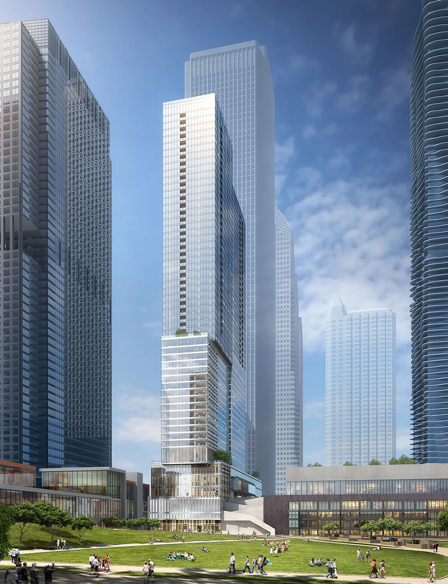 View of Parcel O at Lakeshore East. Rendering by bKL Architecture