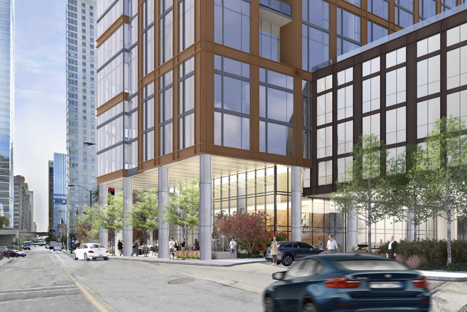 View of Streetscape at 344 N Canal Street. Rendering by SCB