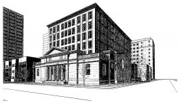 2700 N Pine Grove Avenue. Drawing by Booth Hansen