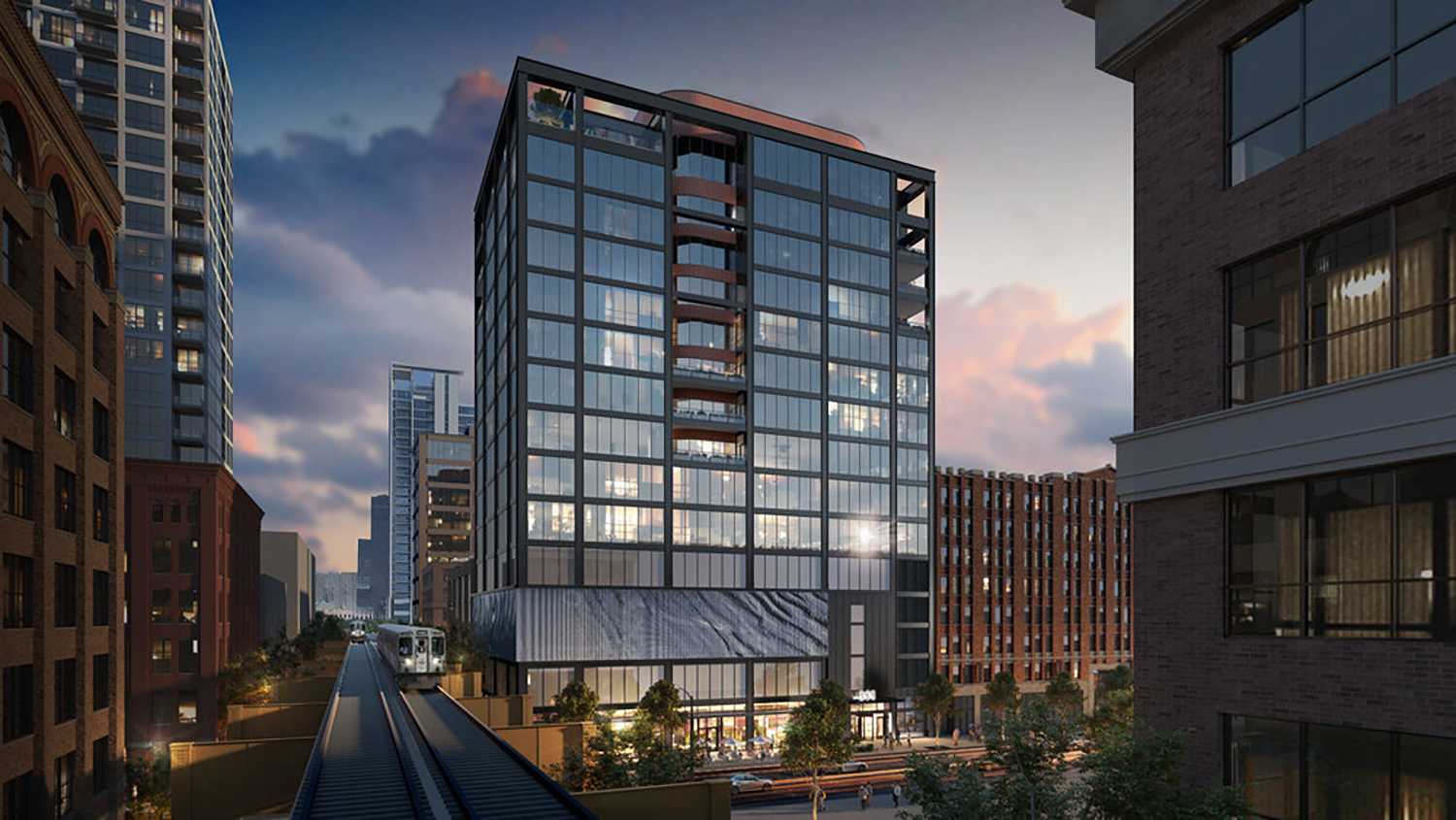 311 W Huron Street. Rendering by NORR Architects