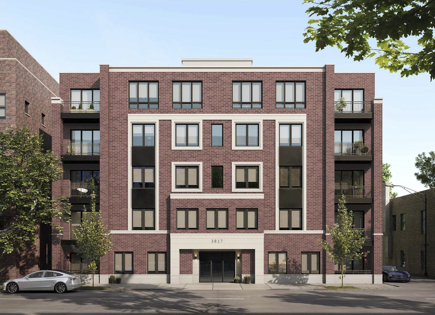 3817 N Ashland Avenue. Rendering by 360 Design Studio