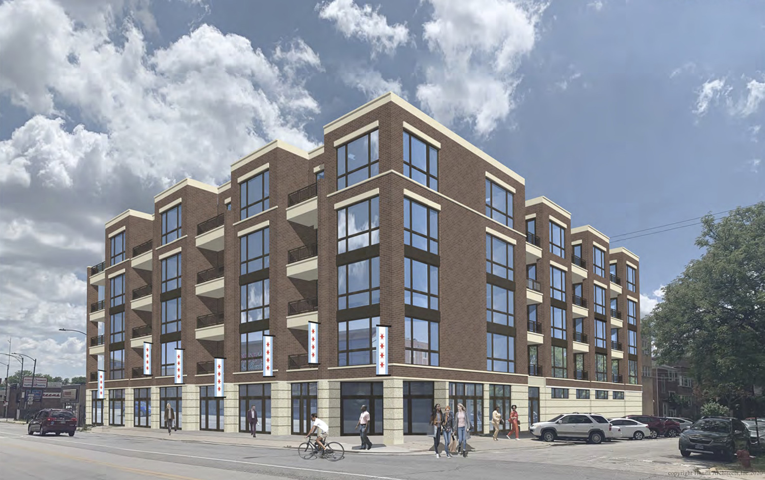 5214 N Lincoln Avenue. Rendering by Hanna Architects