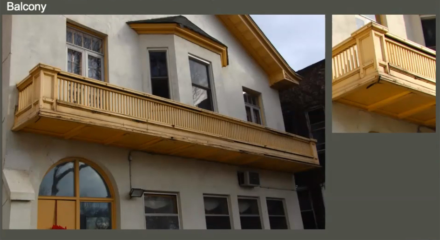 Balcony Condition on Holy Trinity Orthodox Cathedral and Rectory. Images by Landmarks Commission