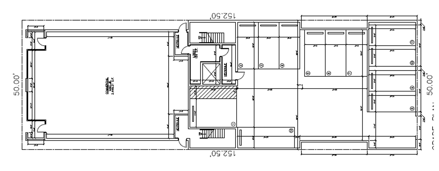 Ground Floor Plan for 4939 N Damen Avenue. Drawing by SNS Realty Group