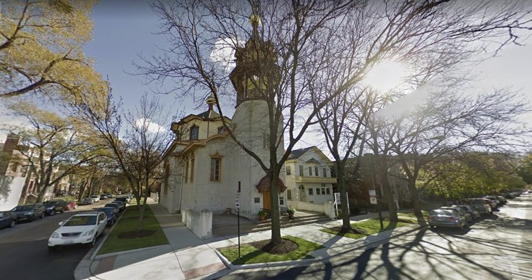 Holy Trinity Orthodox Cathedral and Rectory at 1121 N Leavitt Street via Google Maps