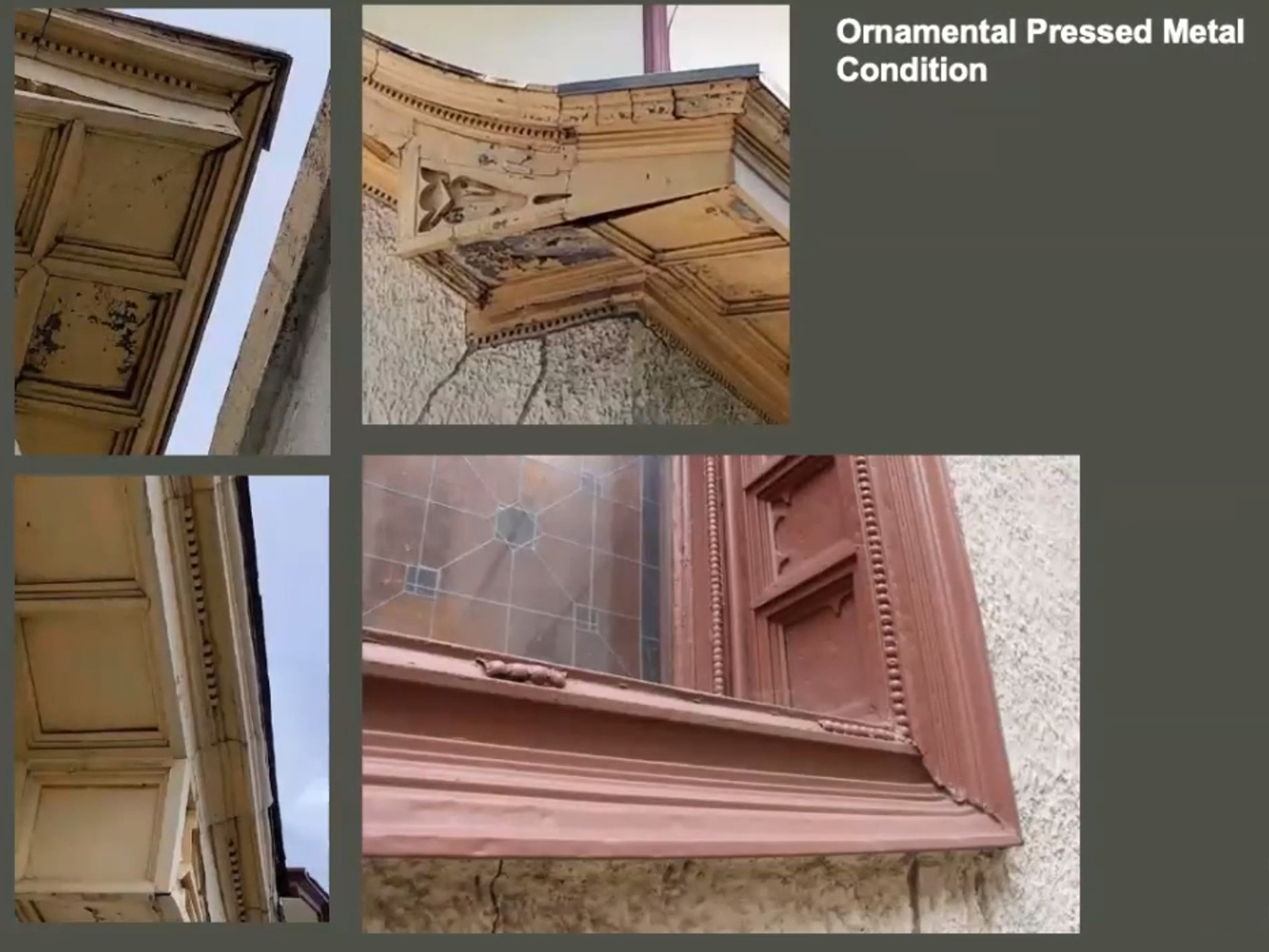Metal Condition on Holy Trinity Orthodox Cathedral and Rectory. Images by Landmarks Commission