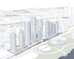 ONE Central Megadevelopment. Rendering by Landmark Development