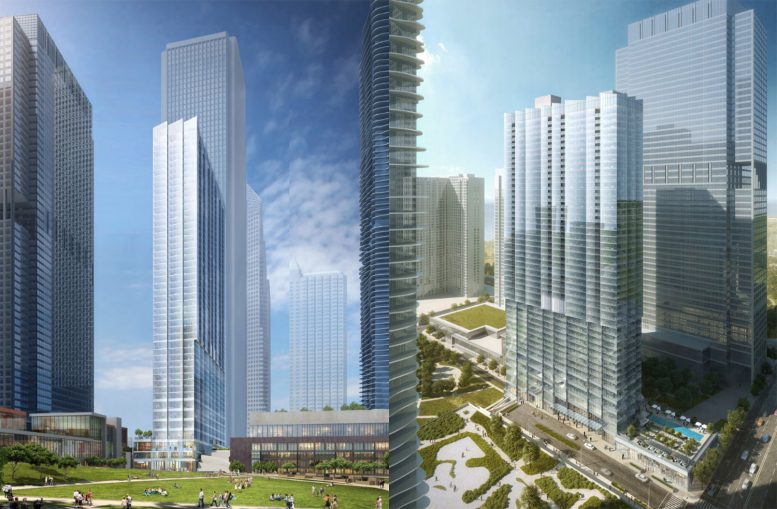 Revised Design for Parcel O Tower. Renderings bKL Architecture
