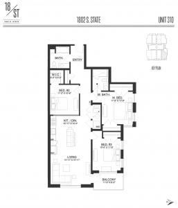 1802 S State Street unit plan