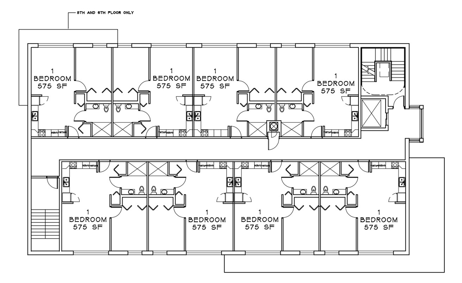 Typical Floor Plan for 835 W Addison Street. Drawing by Weese Langley Weese