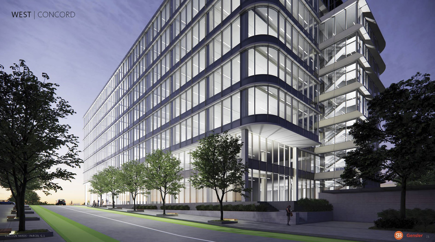 View of Life Sciences Building at Lincoln Yards. Rendering by Gensler