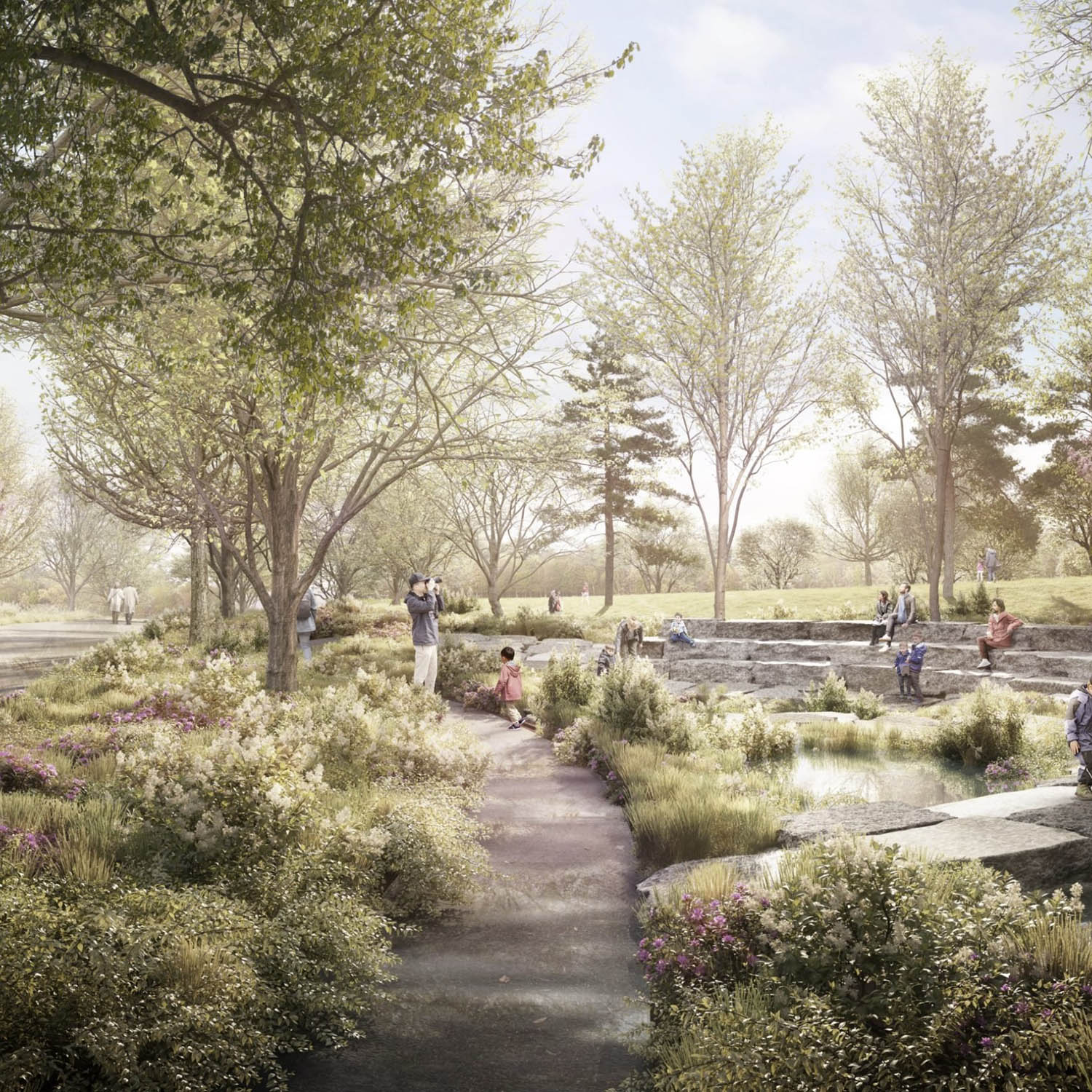 Obama Presidential Center. Rendering by Tod Williams Billie Tsien Architects