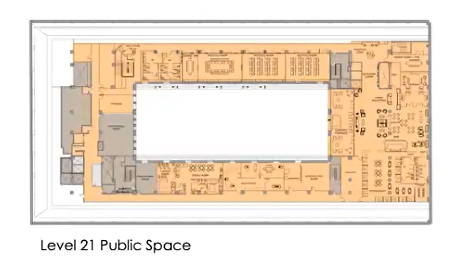 21st Floor Plan for 208 S LaSalle Street. Drawing by The Prime Group