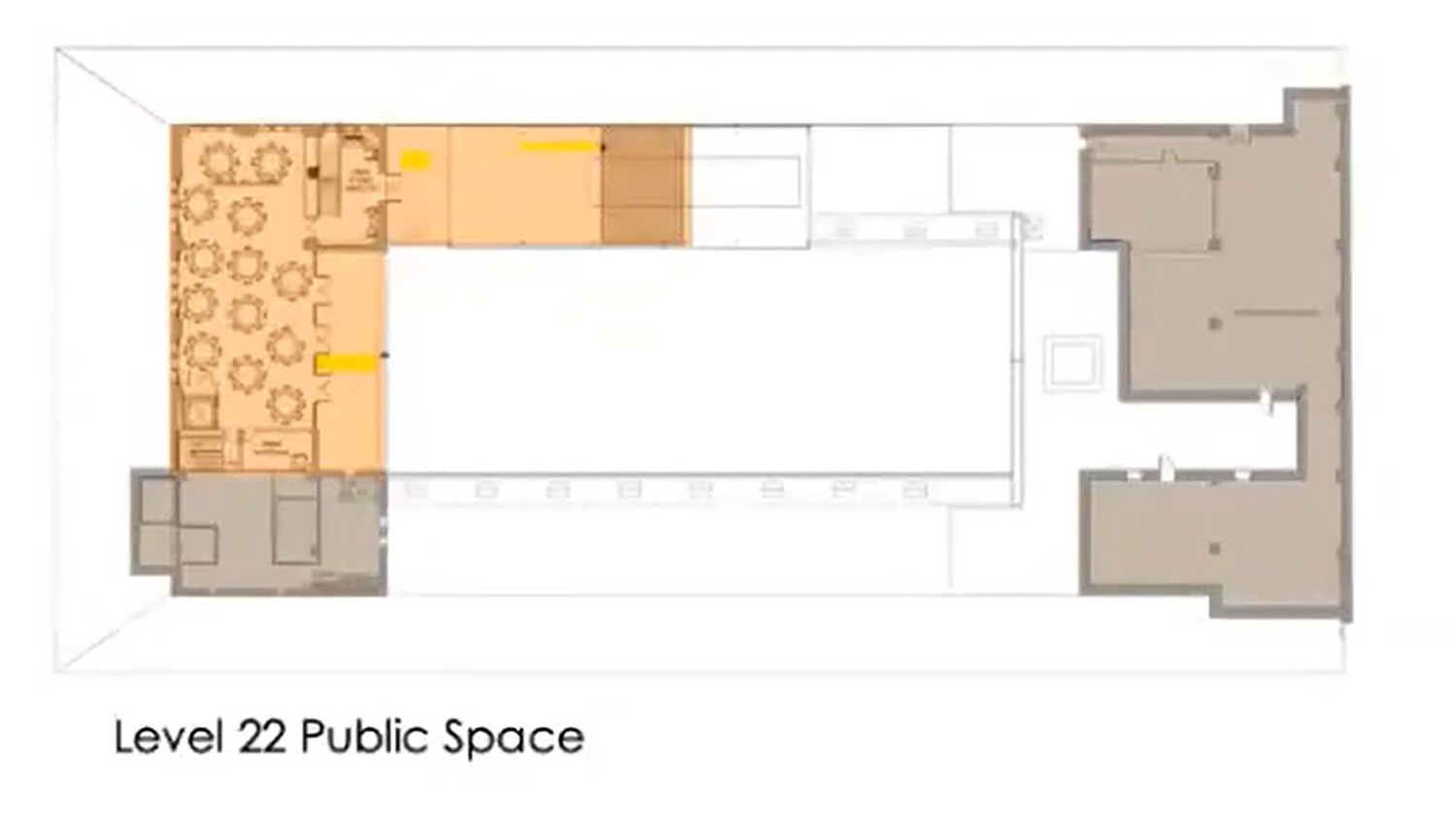 22nd Floor Plan for 208 S LaSalle Street. Drawing by The Prime Group