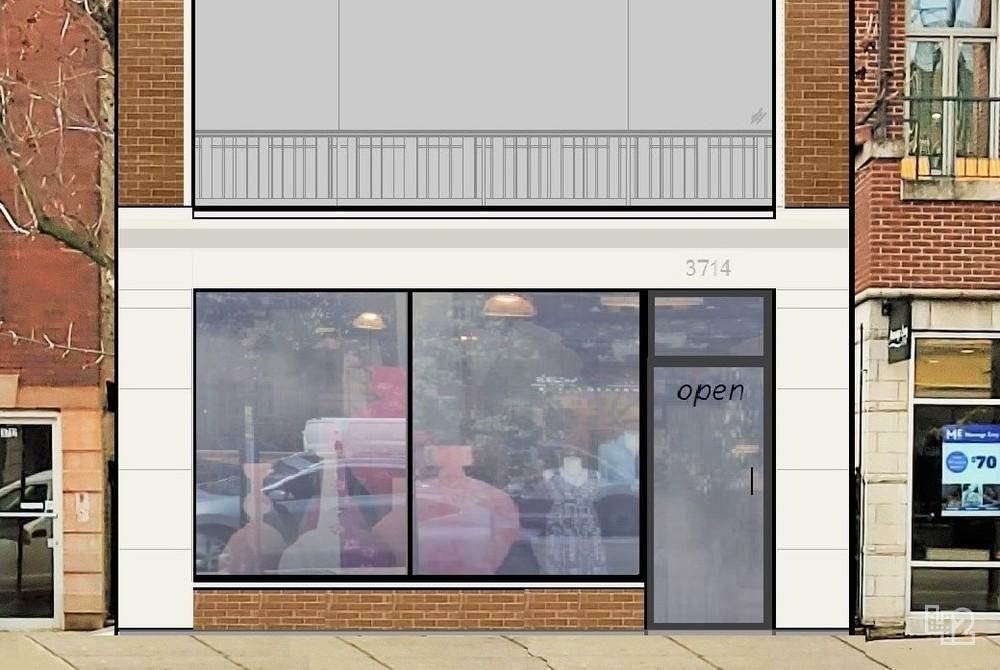 Possible storefront design for 3714 N Southport Avenue