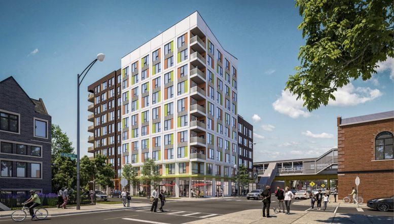43Green at 4308 S Calumet Avenue. Rendering by Landon Bone Baker Architects