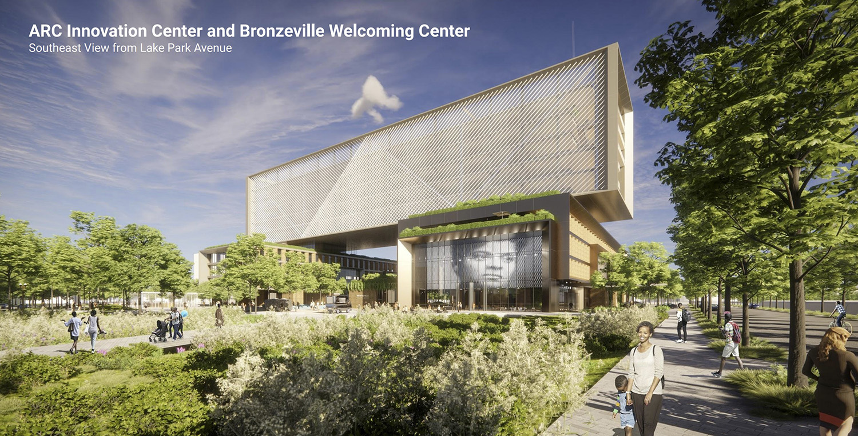 ARC Innovation Center at Bronzeville Lakefront Development Site. Rendering by GRIT Chicago