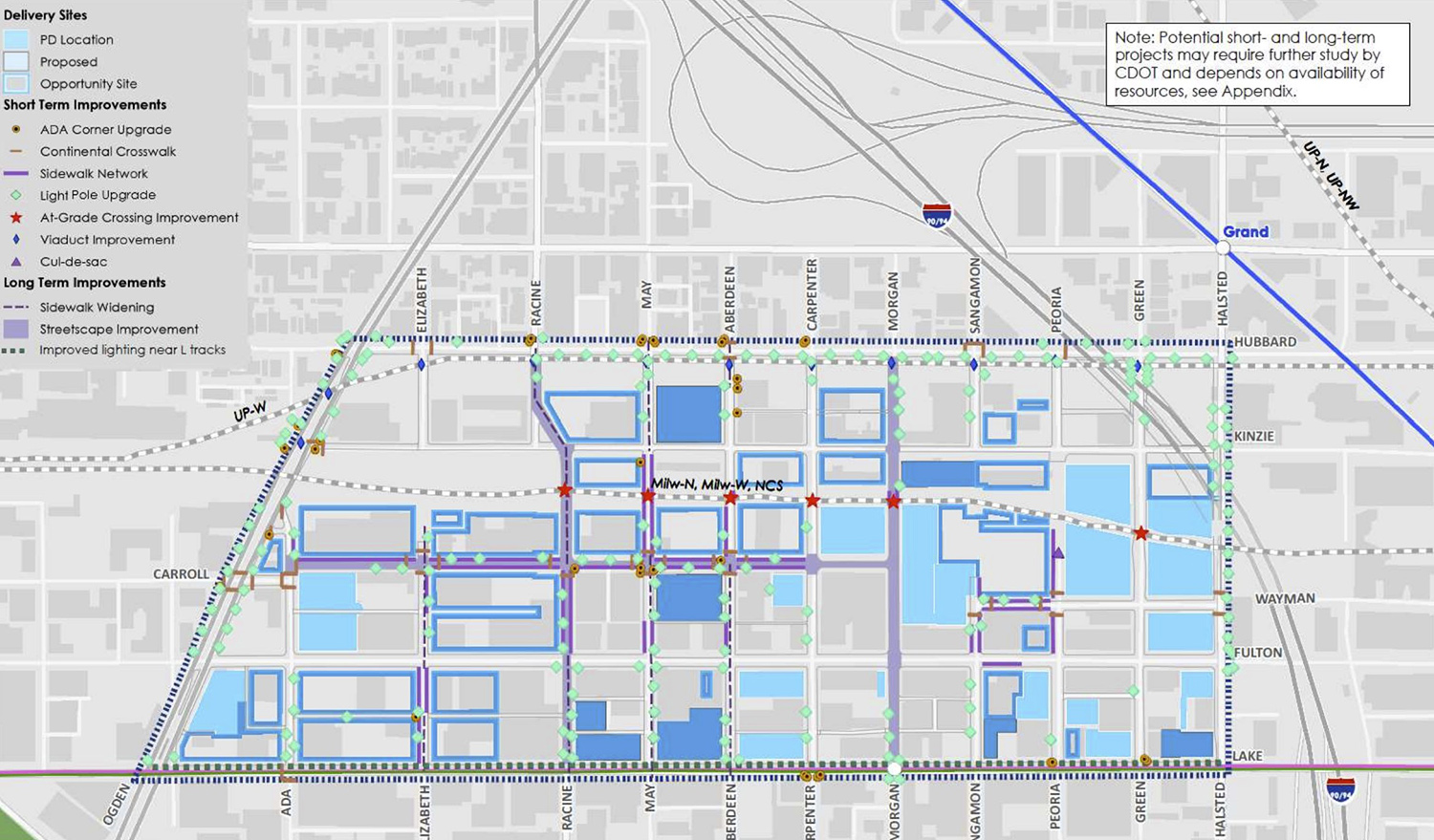 Existing Infrastructure Improvements. Diagram by DPD