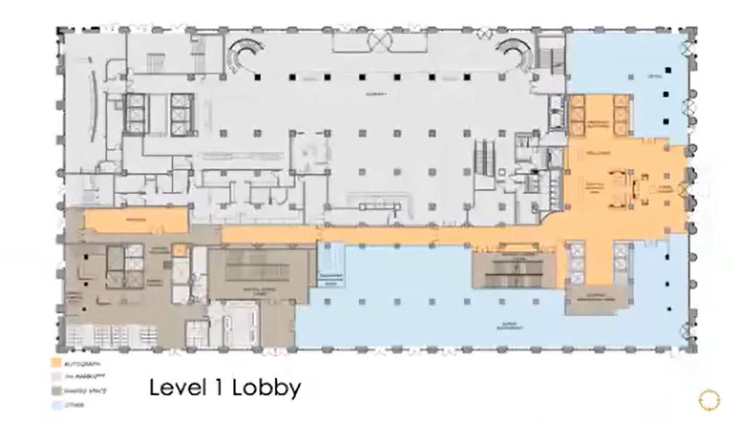 First Floor Plan for 208 S LaSalle Street. Drawing by The Prime Group