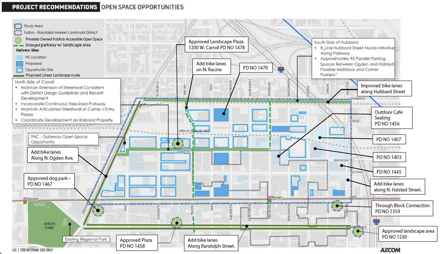 Map of Open Space Opportunities. Diagram by DPD