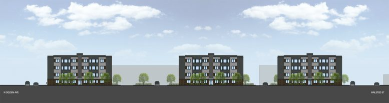 Schiller Place Apartments. Rendering by Bailey Edward