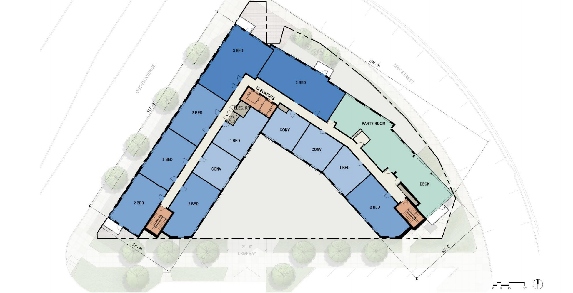 Inspire West Town eighth floor plan