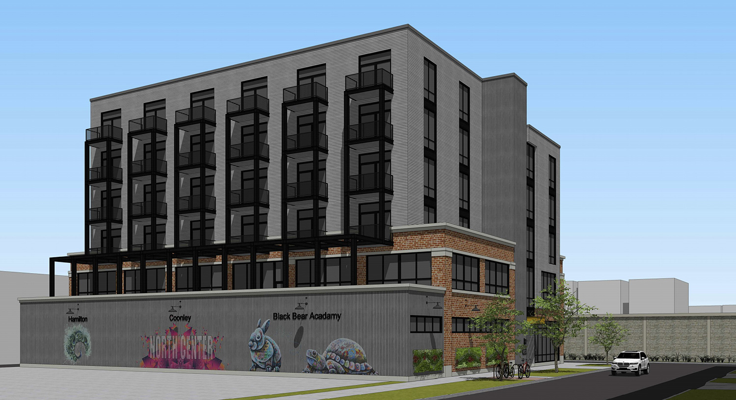 View of 1800 W Berenice Avenue. Rendering by Sullivan Goulette Wilson Architects