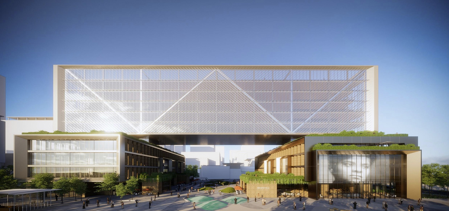 View of ARC Innovation Center at Bronzeville Lakefront Development Site. Rendering by GRIT Chicago
