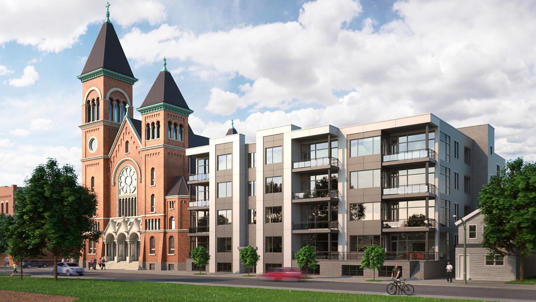 1358 W Chestnut Street. Rendering by Stas Development