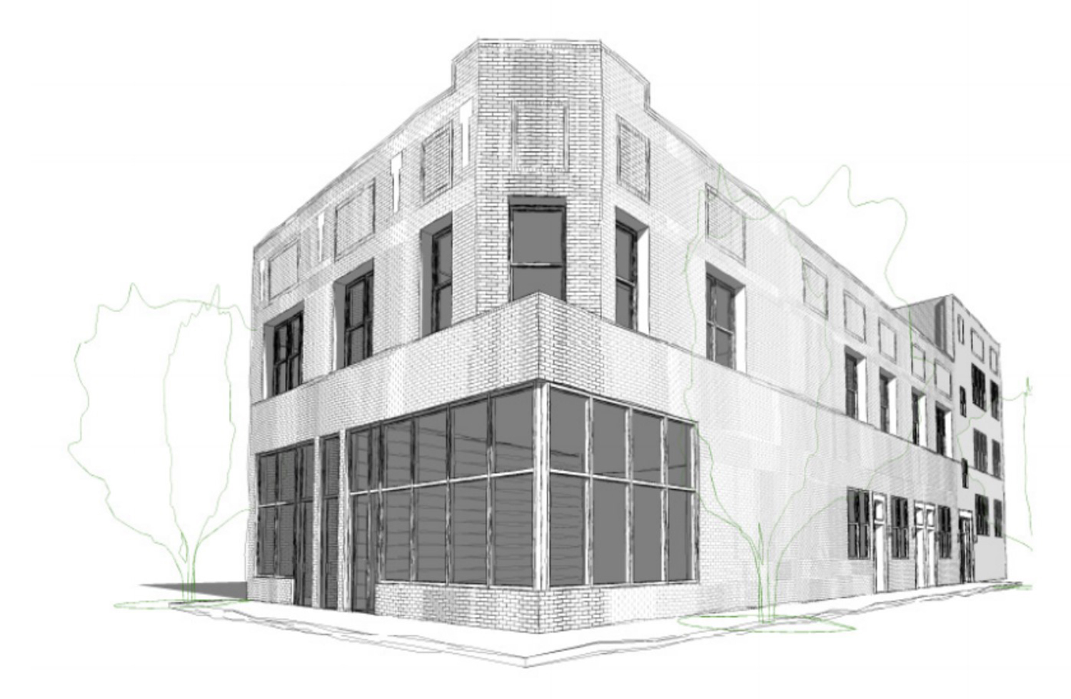 2901 N Milwaukee Avenue. Rendering by Tri Homes Today