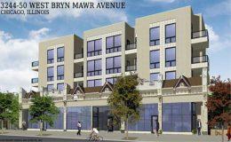 3244 W Bryn Mawr Avenue. Rendering by Hanna Architects