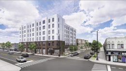 3557 W Lawrence Avenue. Rendering by Skender