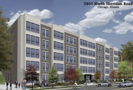 5950 N Sheridan Road. Rendering by Hanna Architects